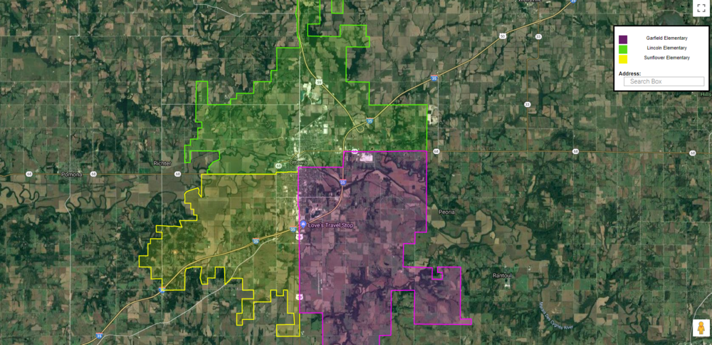 Interactive School District Boundary Map