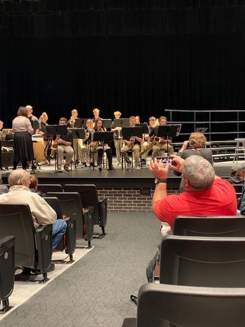 Band Students offer their first performance in the PAC