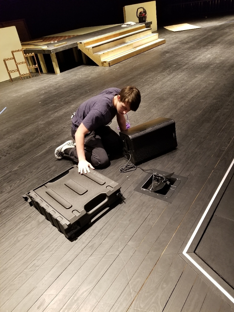 Riley setting up a DANTE stagebox