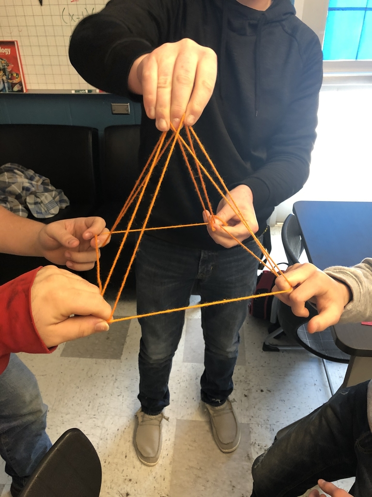 String being formed into a shape