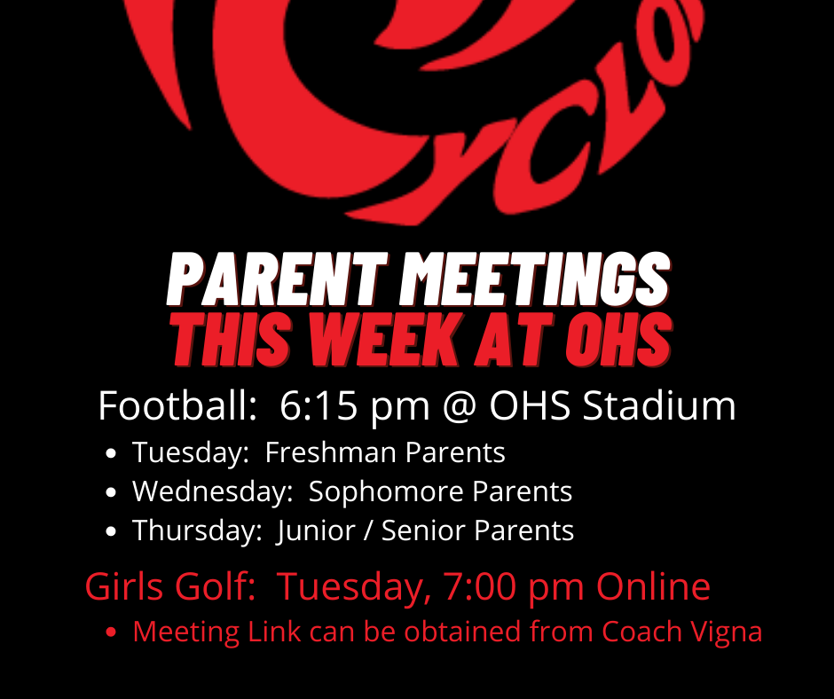 Parent Meeting Announcements