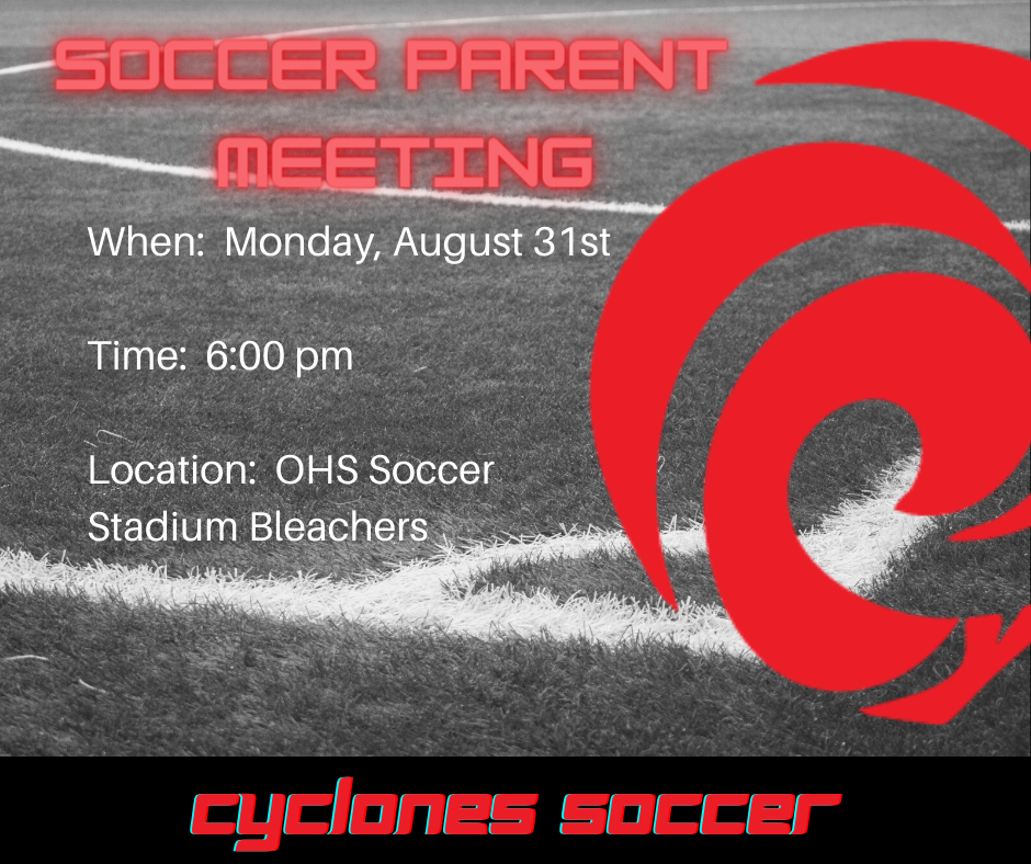 Soccer Parent Meeting Announcement